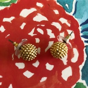Lilly Pulitzer Gold Metallic Ball Earrings